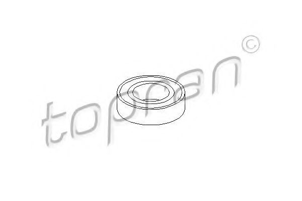 Опора вала карданного HANS PRIES/TOPRAN 402003