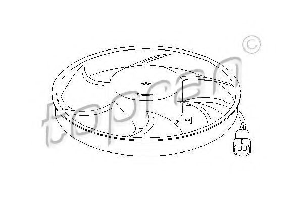Вентилятор радиатора HANS PRIES/TOPRAN 207916
