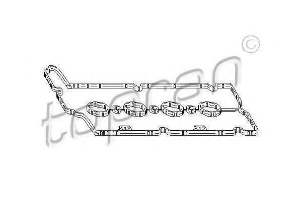 Прокладка, крышка головки цилиндра HANS PRIES/TOPRAN 207621