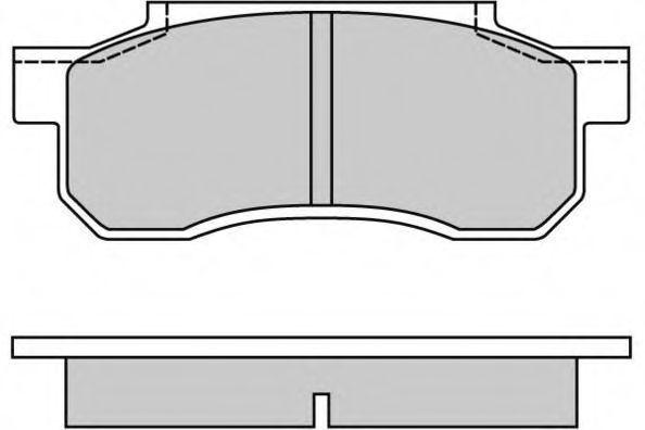Комплект тормозных колодок, дисковый тормоз E.T.F. 120292