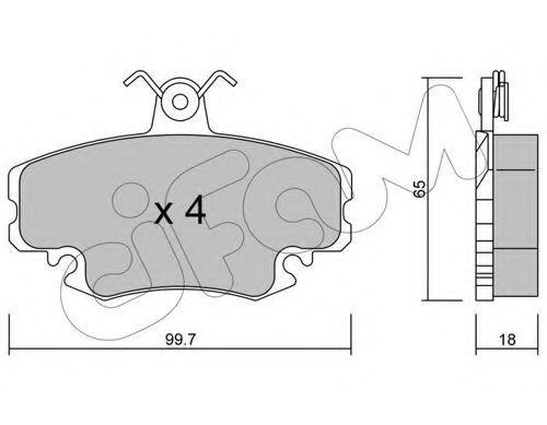 Комплект тормозных колодок, дисковый тормоз CIFAM 8221200