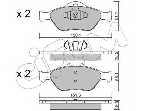 Колодки тормозные передние CIFAM 822-316-0