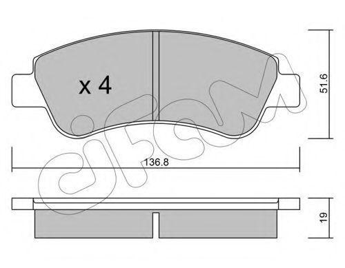 Колодки тормозные передние CIFAM 822-327-0