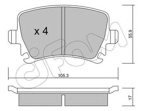 Колодки тормозные задние CIFAM 822-553-0