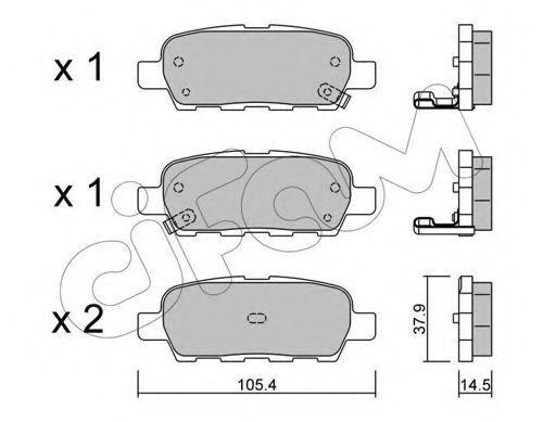Колодки тормозные задние CIFAM 8226120