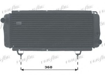 Радиатор, охлаждение двигателя FRIGAIR 01031008