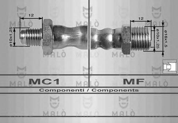 Тормозной шланг MALO 8003