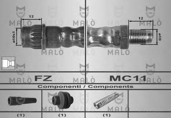 Шланг тормозной MALO 80159