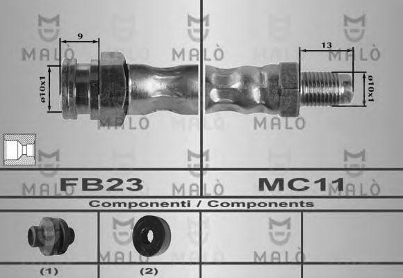 Шланг тормозной MALO 80448