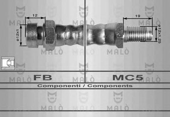 Шланг сцепления MALO 8056