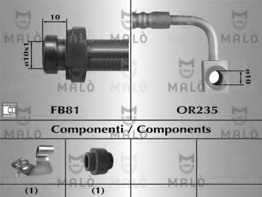Тормозной шланг MALO 81015