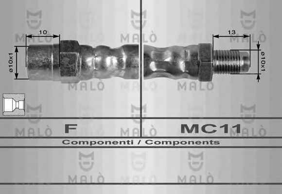 Тормозной шланг MALO 8178