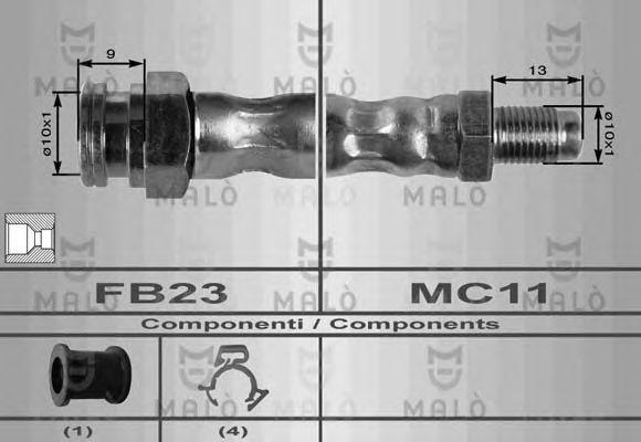 Шланг тормозной MALO 8352