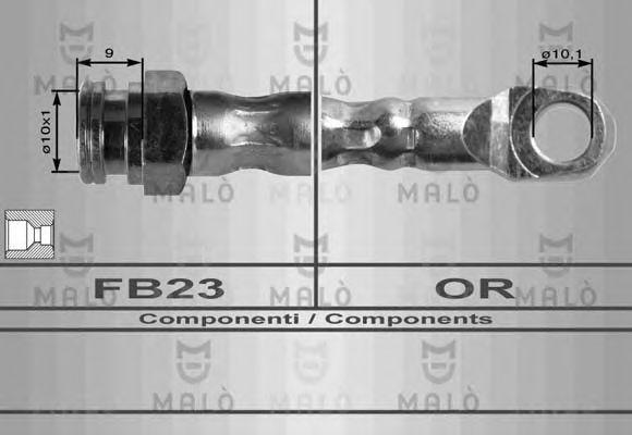 Шланг тормозной MALO 8356