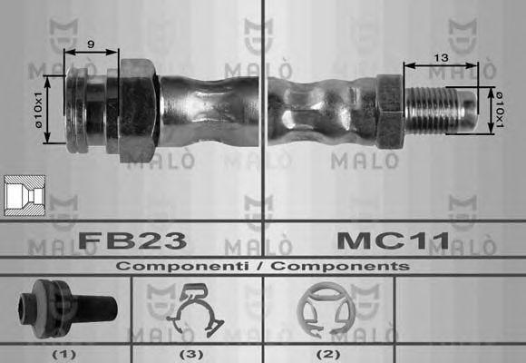 Шланг тормозной MALO 8403