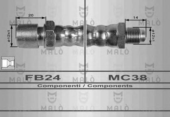 Шланг сцепления MALO 8412