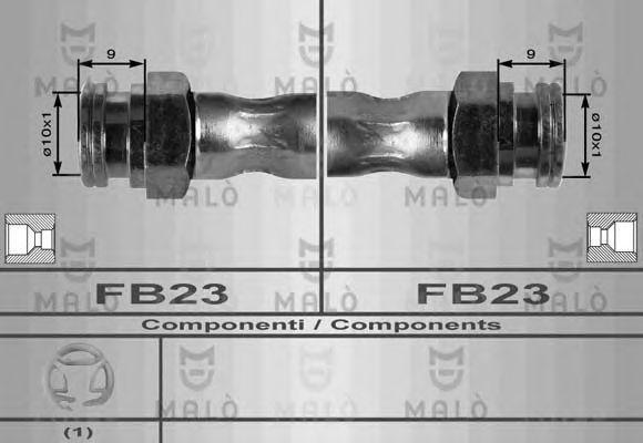 Шланг тормозной MALO 8417