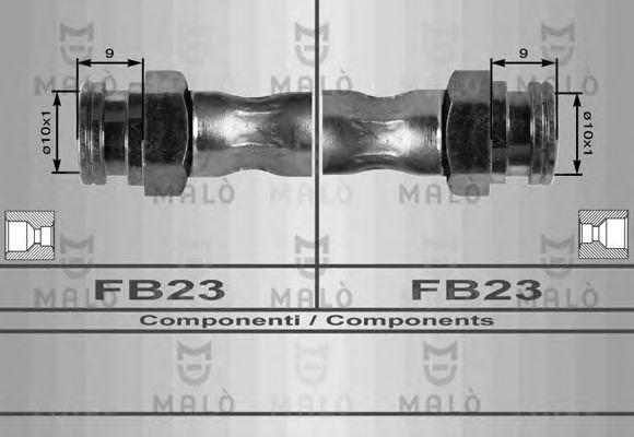 Шланг тормозной задний MALO 8427