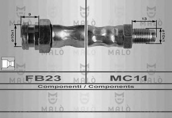 Шланг тормозной MALO 8459