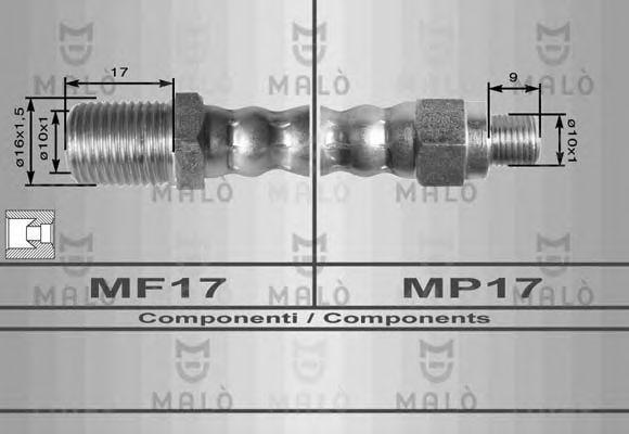 Шланг тормозной MALO 8624