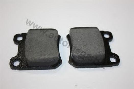Комплект тормозных колодок, дисковый тормоз AUTOMEGA 1016050047