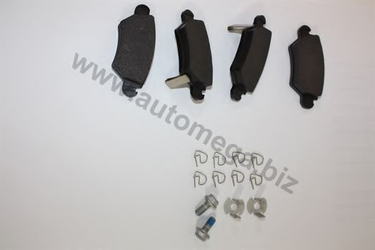 Комплект тормозных колодок, дисковый тормоз AUTOMEGA 1016050093