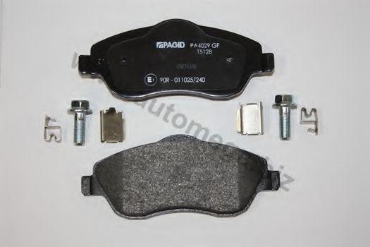 Комплект тормозных колодок, дисковый тормоз AUTOMEGA 1016050964