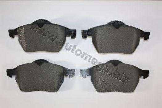 Комплект тормозных колодок, дисковый тормоз AUTOMEGA 1016050966