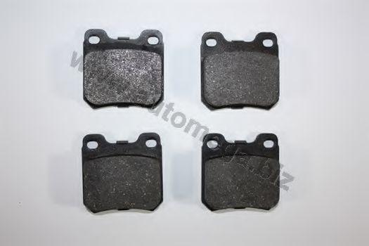 Комплект тормозных колодок, дисковый тормоз AUTOMEGA 1216050026