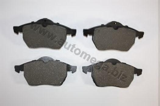 Комплект тормозных колодок, дисковый тормоз AUTOMEGA 1216050036