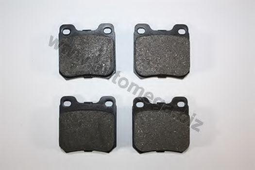 Комплект тормозных колодок, дисковый тормоз AUTOMEGA 1216050047