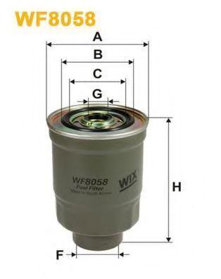 Фильтр топливный WIX WF 8058