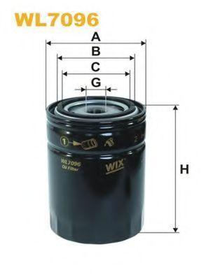 Фильтр масляный WIX WL7096