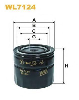 Фильтр масляный WIX WL7124