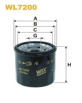 Фильтр масляный WIX WL7200
