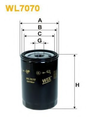 Фильтр масляный WIX WL7070