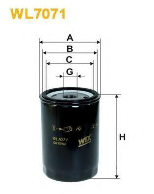 Фильтр масляный WIX WL7071
