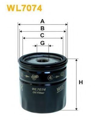 Фильтр масляный WIX WL7074