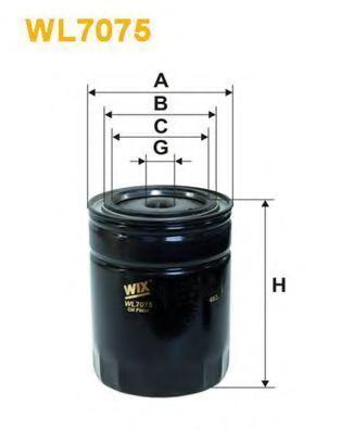 Фильтр масляный WIX WL7075