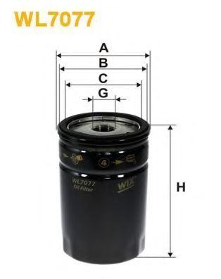 Фильтр масляный WIX WL7077