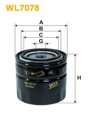 Фильтр масляный WIX WL7078