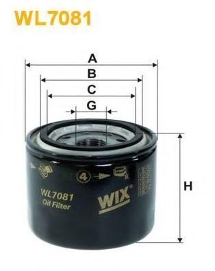 Фильтр масляный WIX WL7081