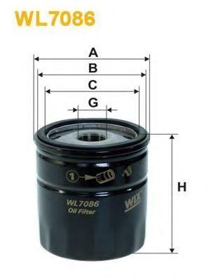 Фильтр масляный WIX WL7086