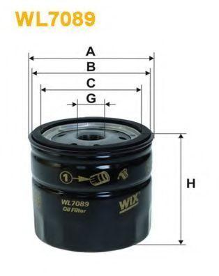 Фильтр масляный WIX WL7089