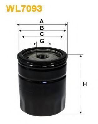 Фильтр масляный WIX WL7093