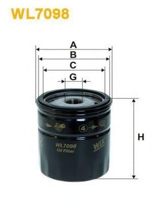 Фильтр масляный WIX WL7098