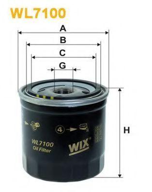Фильтр масляный WIX WL7100