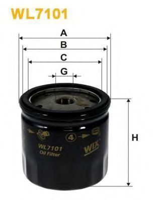 Фильтр масляный WIX WL7101