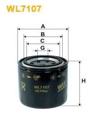Фильтр масляный WIX WL7107