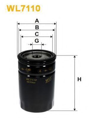 Фильтр масляный WIX WL7110